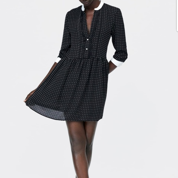 3aa5f506ff2942 Zara Dresses | Black And White Polka Dot Dress | Poshmark